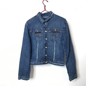 RVT Jeans Co Denim Jacket Size XL Distressed